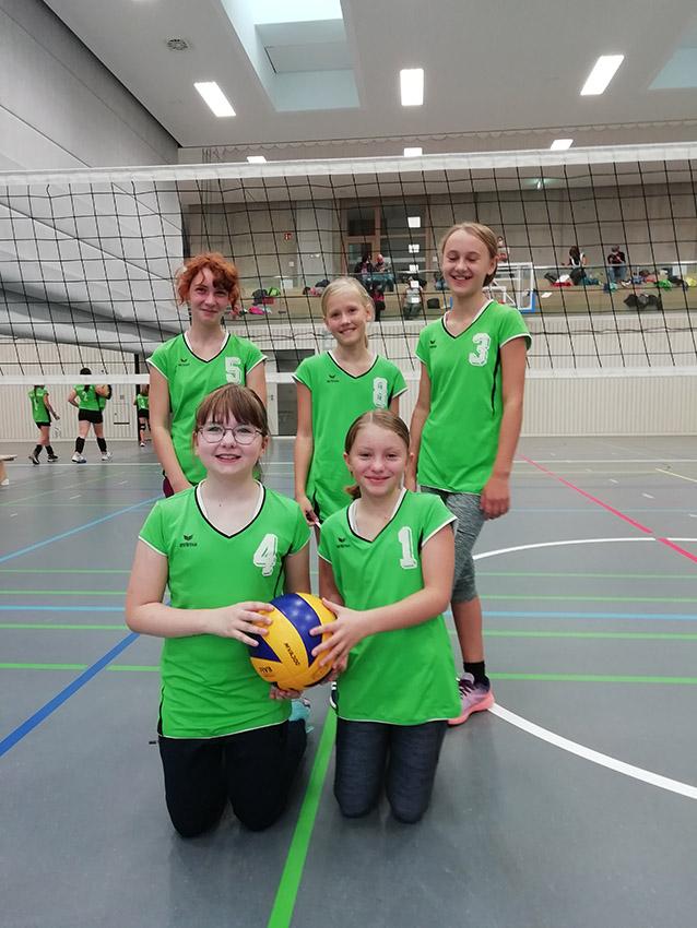 U13 Jugendvolleyballerinnen der SG DJK/TSG