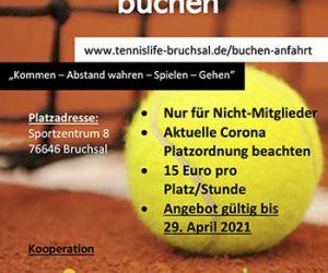 Tennisplätze vorzeitig eröffnet